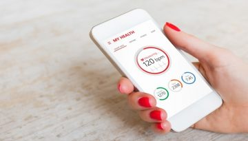 Health app on smartphone
