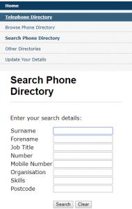 Intranet Phone Directory
