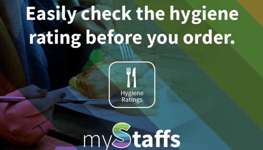 Easily check the hygiene rating before you order using myStaffs.