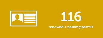 116 renewed a parking permit