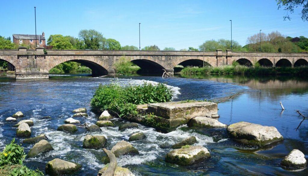 The River Trent and Trent Bridge, Burton-on-Trent.