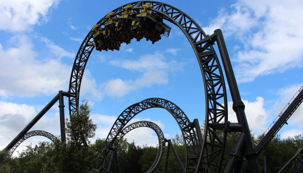 Rollercoaster at Alton Towers.