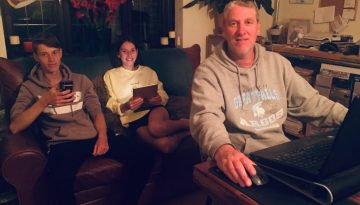 Trevor Stewart and family enjoying faster broadband speeds